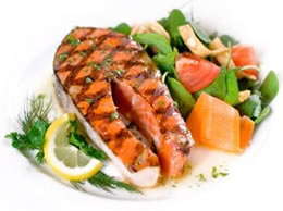 Healthy Salmon Lunch